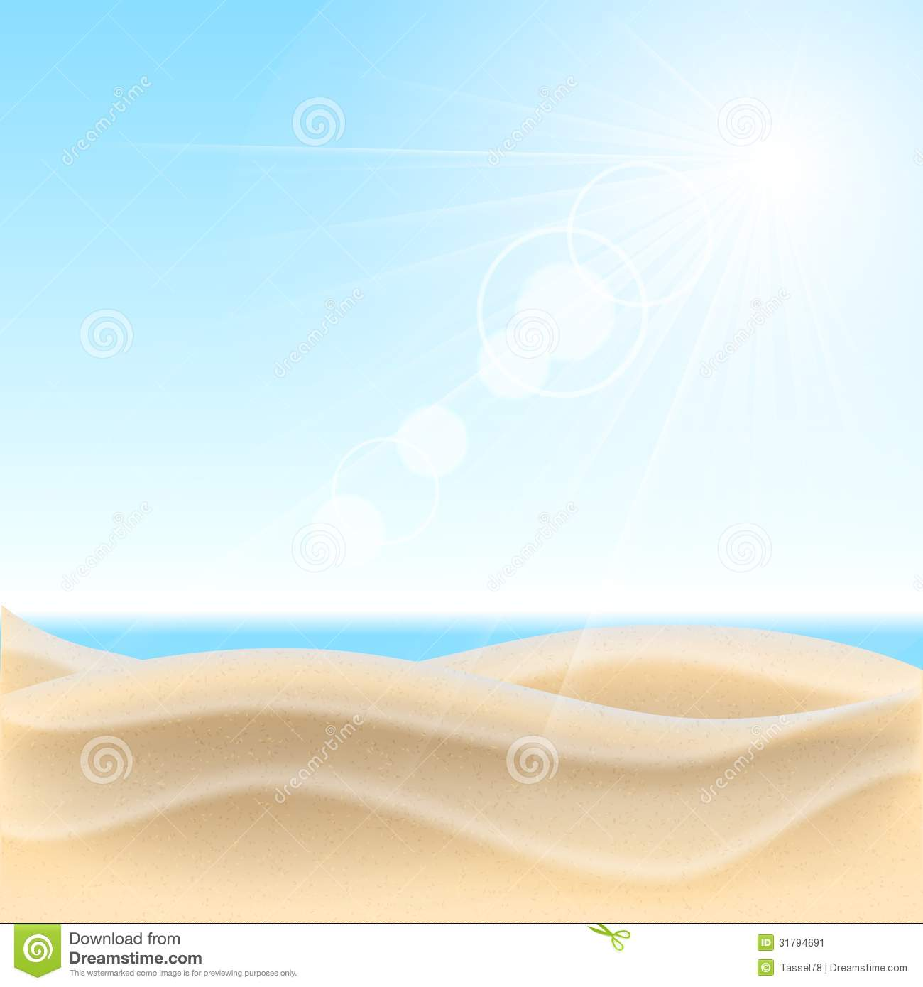 Beach Sand Background Clipart