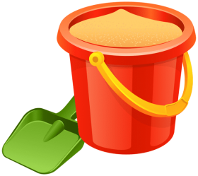 Download sand pail and shovel png.