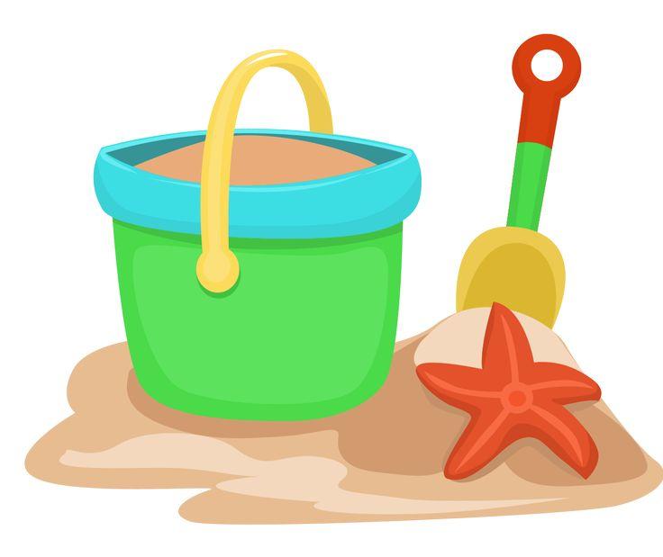 Beach Bucket Clipart.