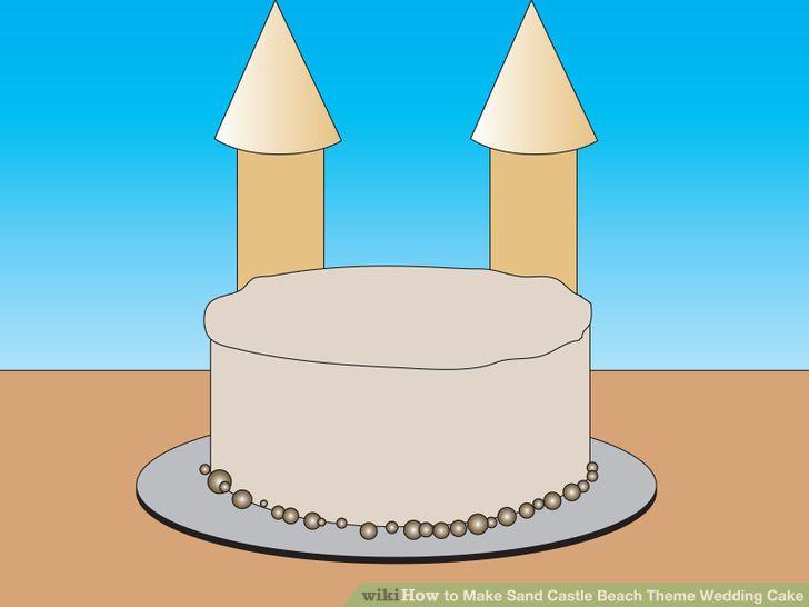 4 Ways to Make Sand Castle Beach Theme Wedding Cake.
