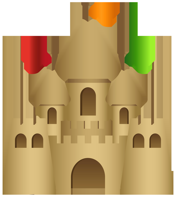 Sand Castle Transparent PNG Clip Art Image.