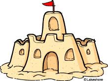 7 sand castle clip art..