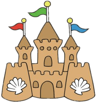 Sand Castle Clipart transparent PNG.