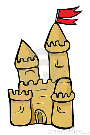 Sand castle clipart #15