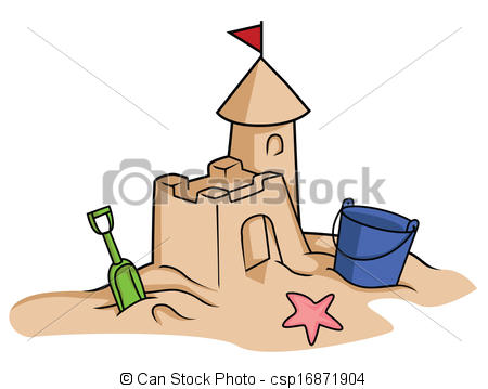 Sand Castle Clip Art.