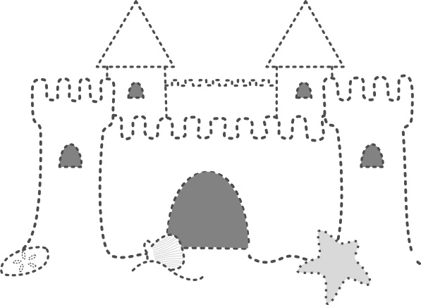 Sand Castle clip art Free vector in Open office drawing svg.