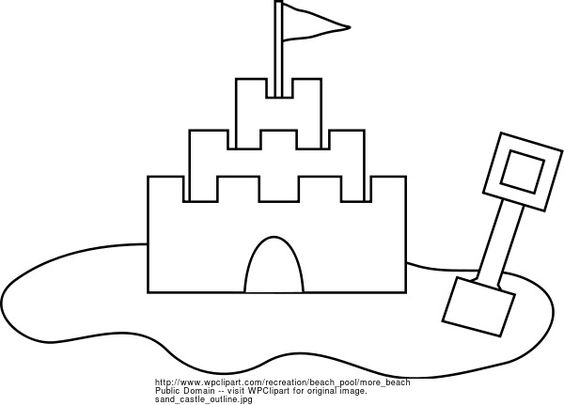 Beach sand castles pool and art images on clip art.
