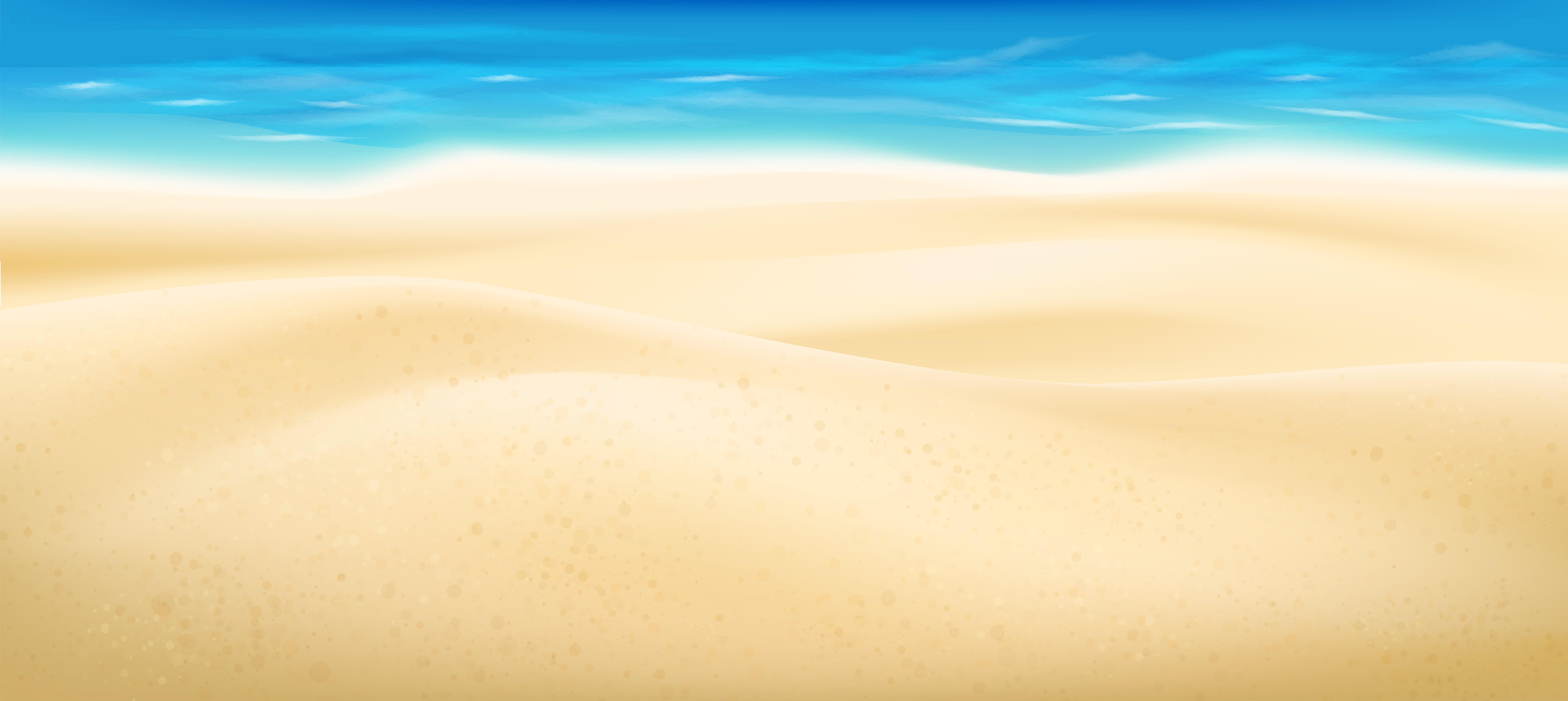 Sea and Sand PNG Clip Art Image.