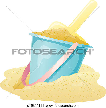 Clipart of seashore, seaside, sand, rubber ring, beach, summer.