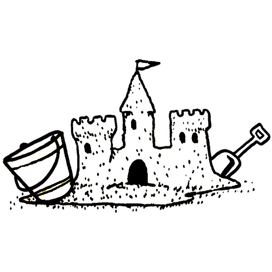 Sand Castle Coloring Pages.
