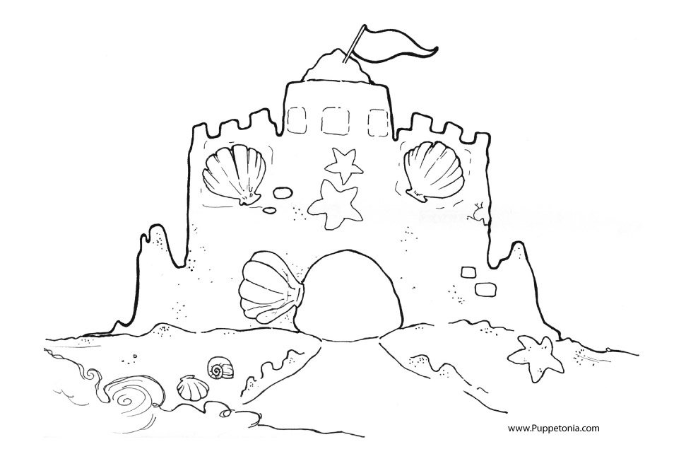 Drawing Of A Sandcastle.
