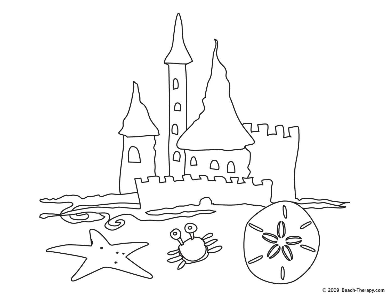 Sand Castle Coloring Page AZ Coloring Pages Color Print 6 31527.