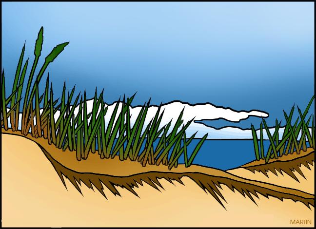 Sand Dunes Clip Art.