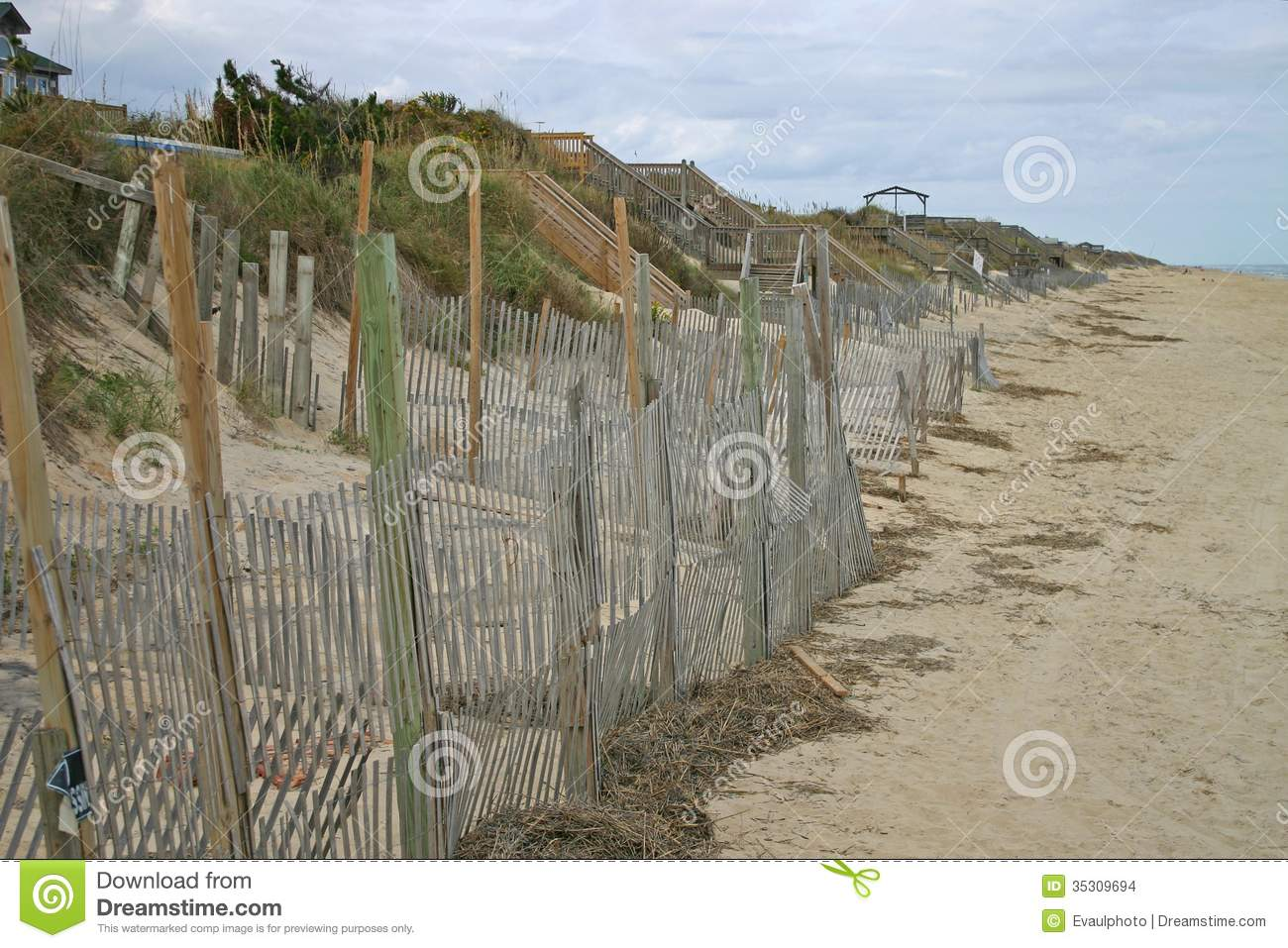 Beach Erosion Control Royalty Free Stock Photography.