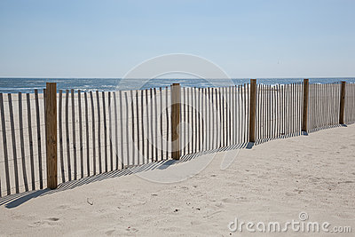 Sand Fences At The Beach Royalty Free Stock Photo.