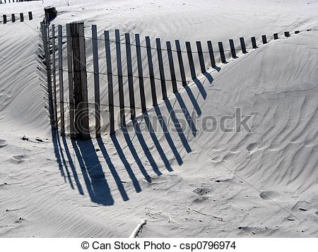 Stock Photo of Wooden Fence.