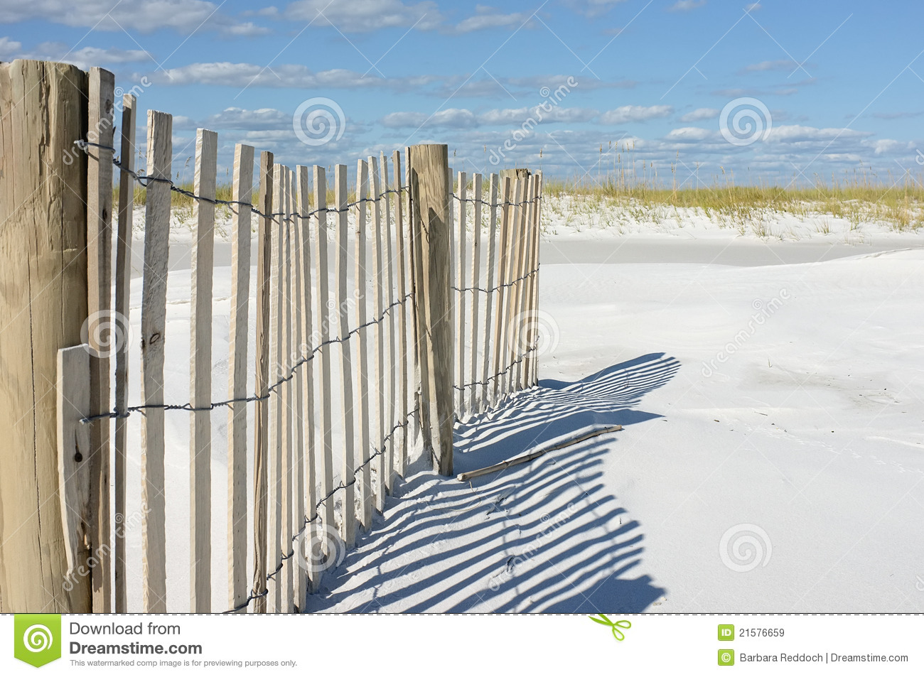 Sand Fence In The Dunes At The Beach Stock Photography.
