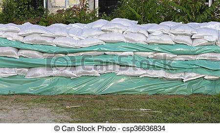 Stock Photos of Sand Bags.
