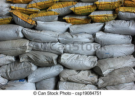 Stock Images of Sand Sack protecting flood.
