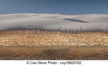 Stock Illustration of Desert Flood csp18825762.