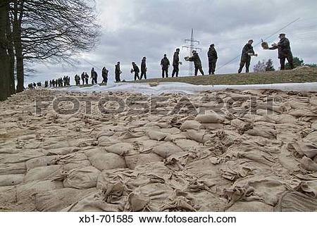 Stock Image of Germany, Lower Saxony, flood xb1.
