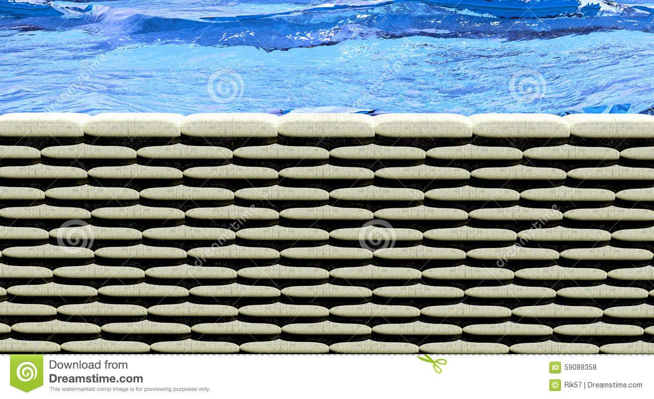 Sand Bags Flood Stock Illustration.