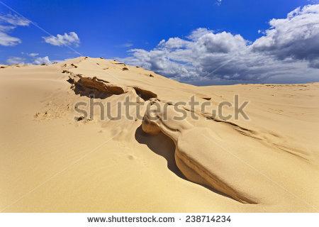 Wind Erosion Sand Dunes Clip Art.