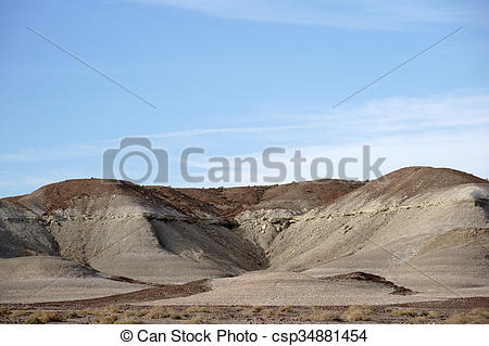 Stock Images of Round Rock Formations in the Mojave.