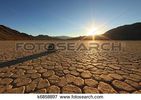 Picture of Beautiful Sand Dune Formations in Death Valley.