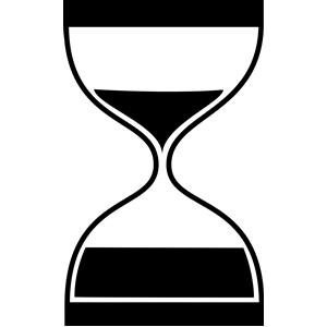 Animated clip art hourglass.