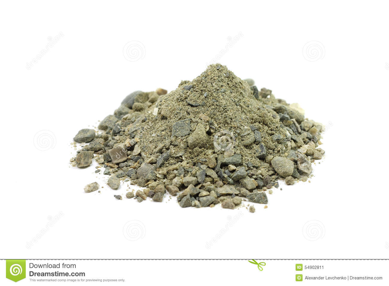 A Mixture Of Sand, Clay And Gravel Stock Photo.