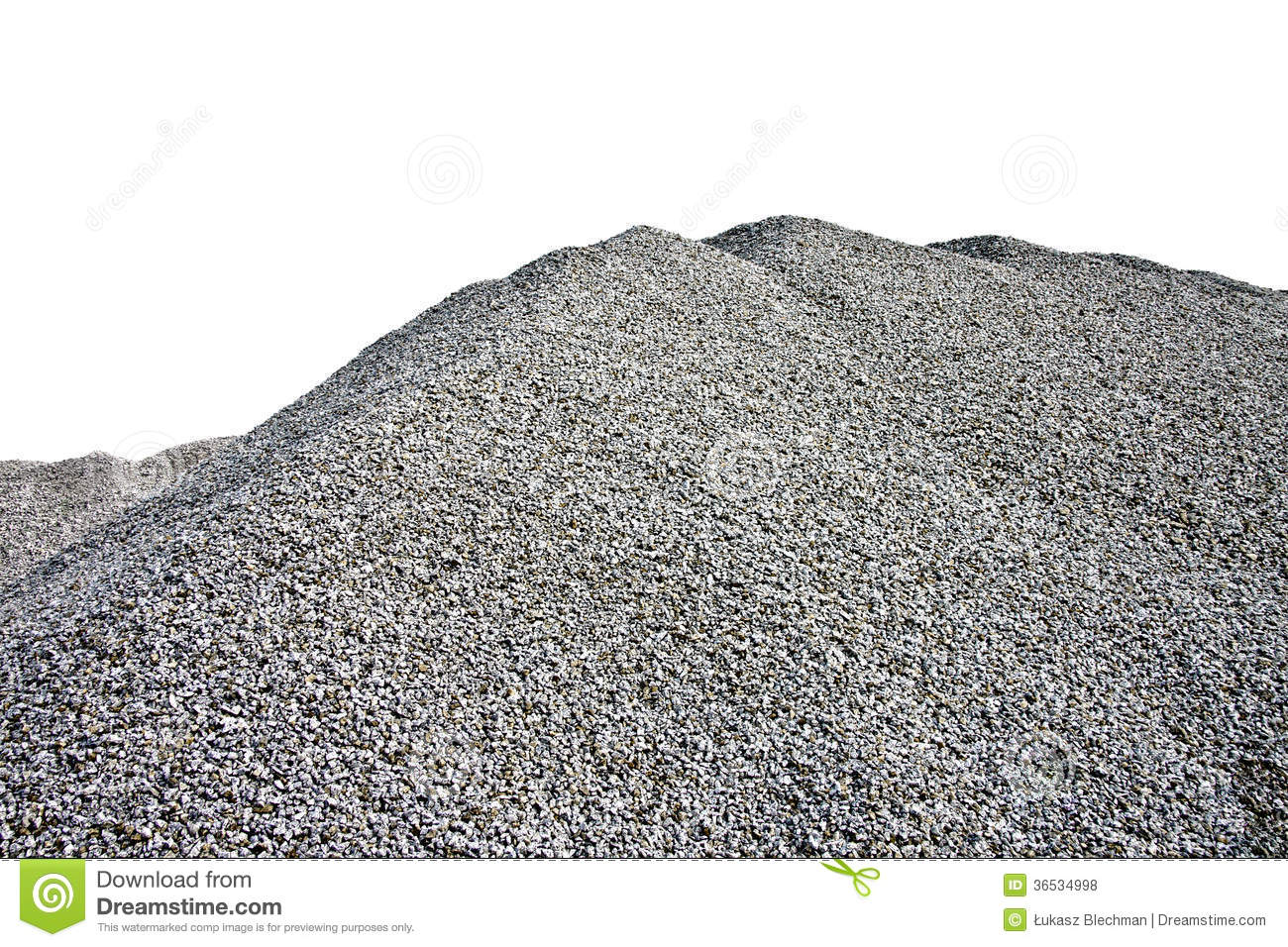 Gray Gravel Hill Stock Images.