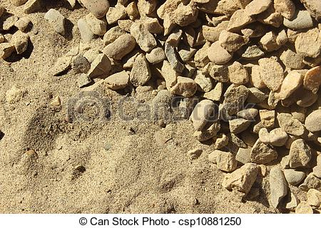 Stock Images of sand and gravel in the background csp10881250.