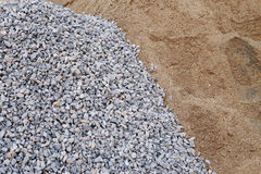 Piles Gravel And Sand Stock Photo.