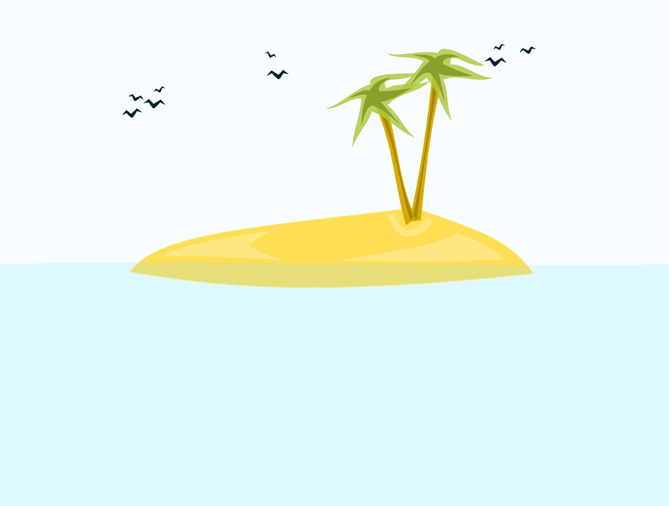 Free vector graphic: Island, Tropical, Beach, Birds.