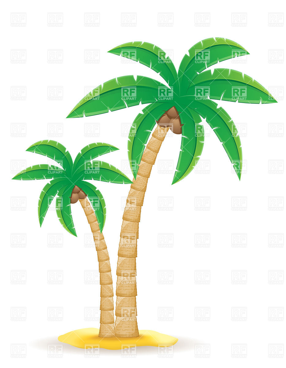Palm tree on the sand Vector Image #31955.