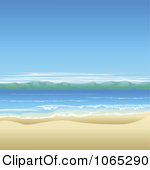 Sand And Ocean Clipart.