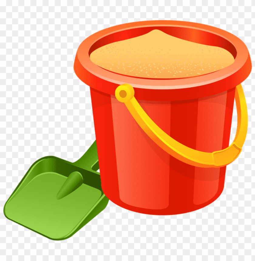 Download sand pail and shovel clipart png photo.