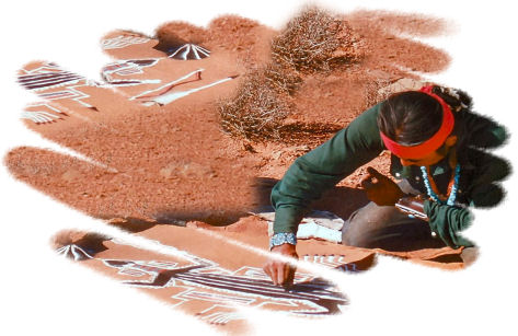 Native American Sand Paintings.