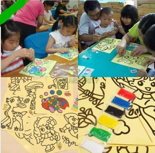 Online Cheap Cartoon Diy Color Sand Painting Kids Intelligence.