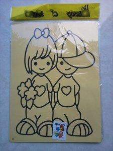 DIY sand art supplies 100PCS children's color sand painting kit A4.