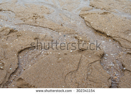 Water flow in sand clipart.