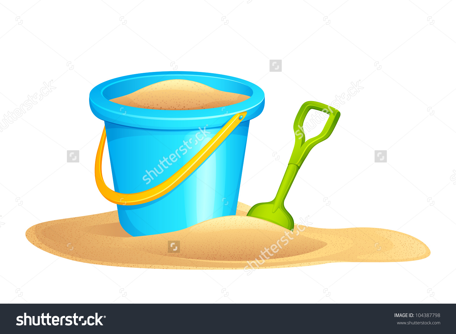 Vector Illustration Sandpit Kit Sand Stock Vector 104387798.