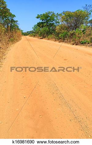 Stock Photography of Abandon sand road in Africa k16981690.