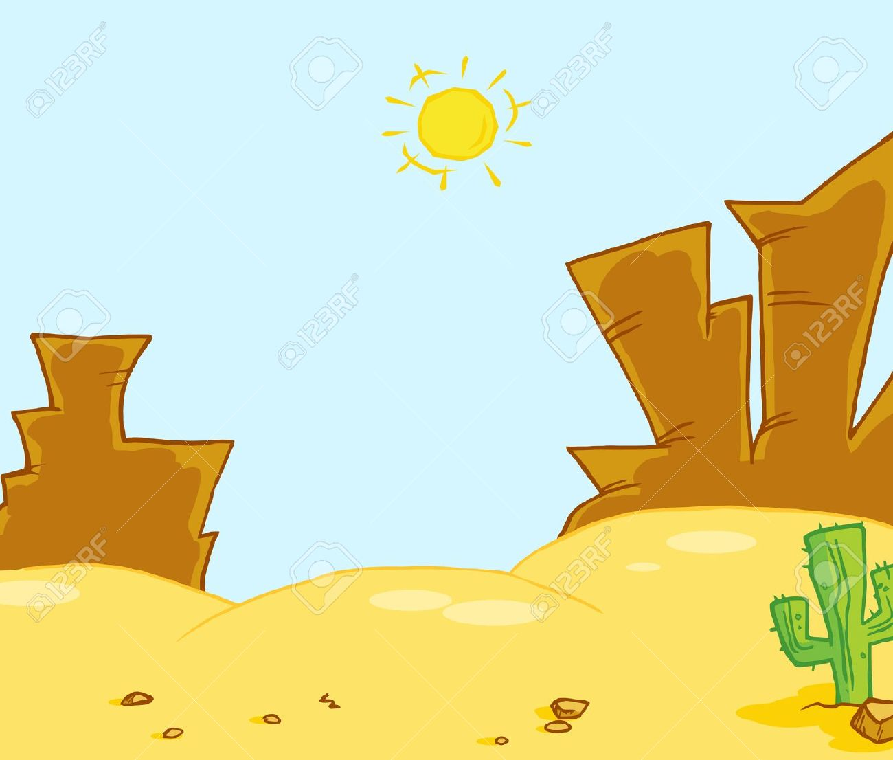 Showing post & media for Desert landscape cartoon.