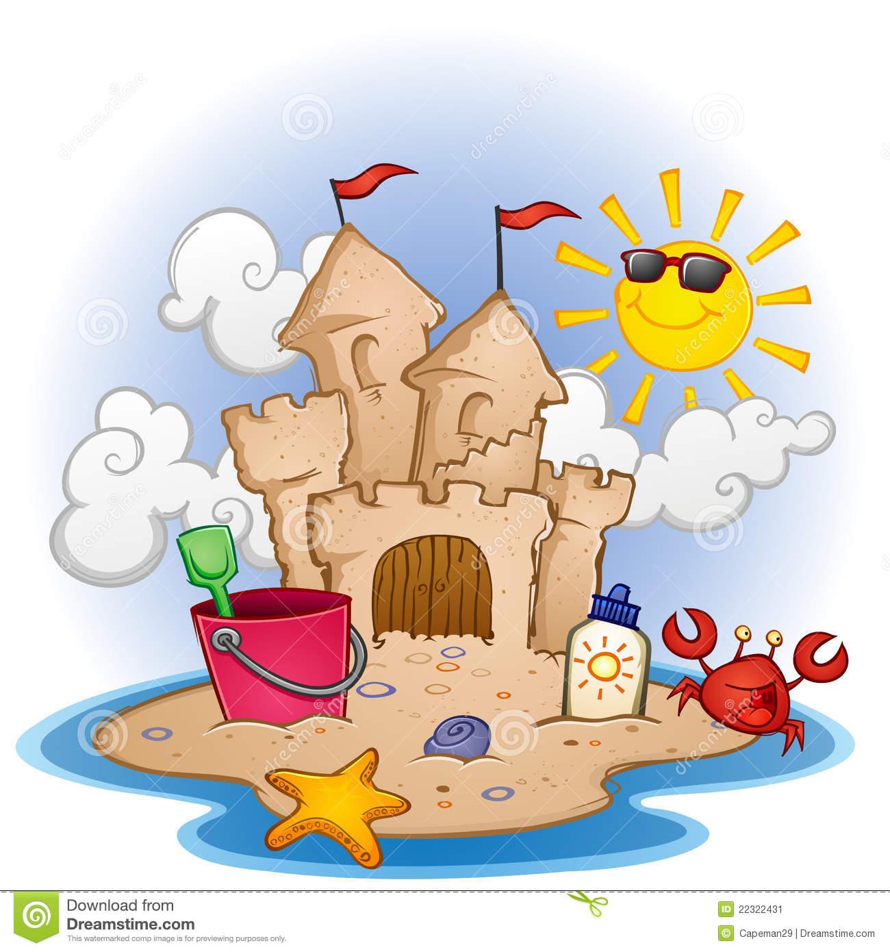 Sand Castles Clipart.