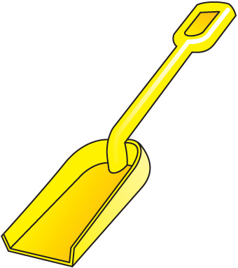 Beach Shovel Clipart.