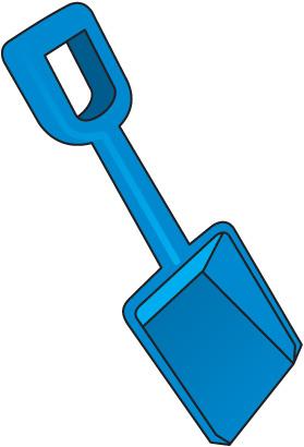 Sand Shovel Clipart.