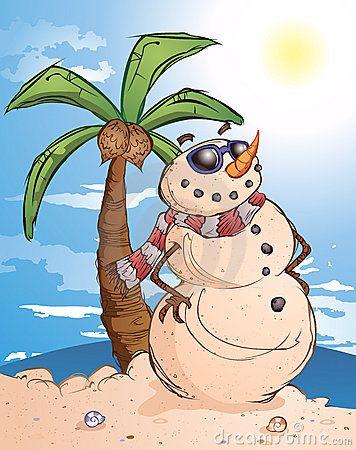 sand snowman clipart #7