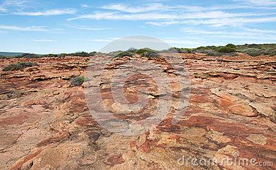 Red Bluff: Rugged Terrain Stock Photo.